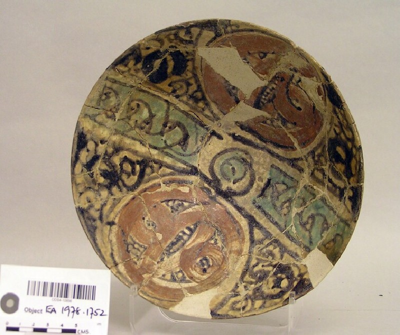 Bowl with roundels and arabesques (EA1978.1752, record shot)