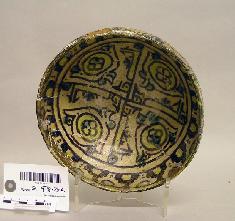 Bowl with panelling and stylised motifs