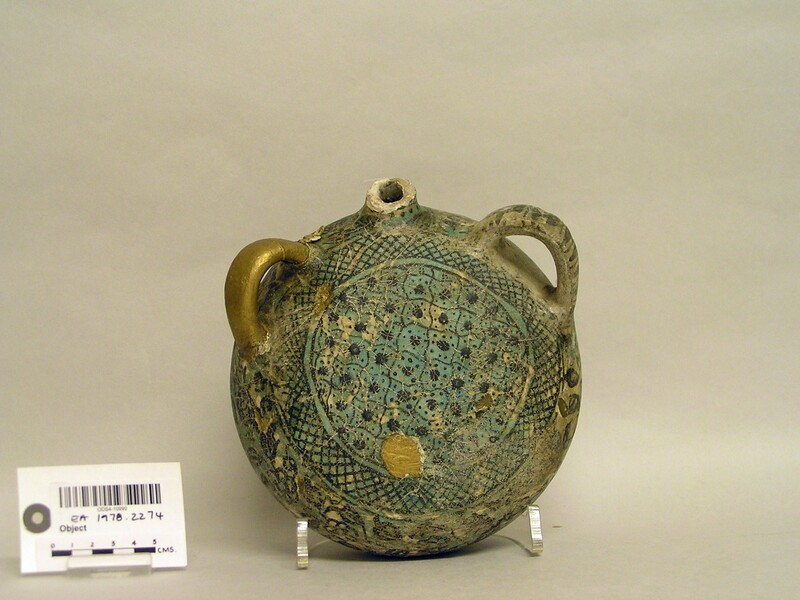 Pilgrim-flask with floral and cross-hatched decoration (EA1978.2274, record shot)