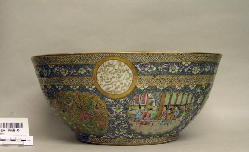 Canton export porcelain bowl