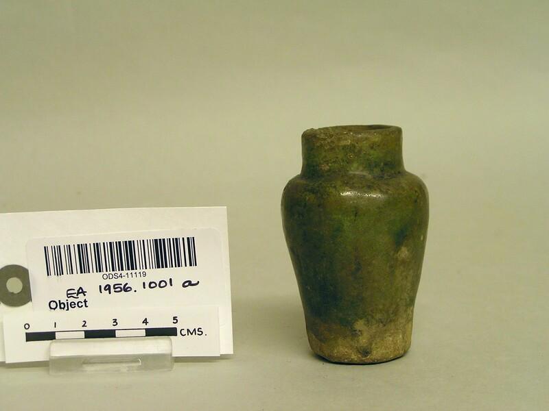 Jarlet with green glaze