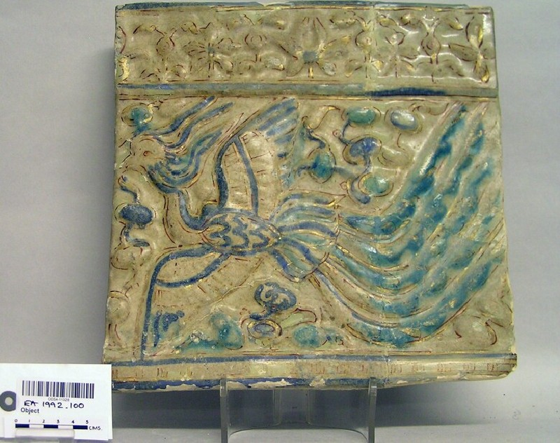 Tile with phoenix (EA1992.100, record shot)