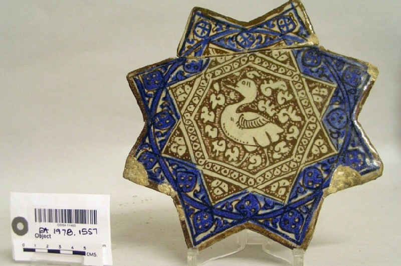 Star-shaped tile with duck
