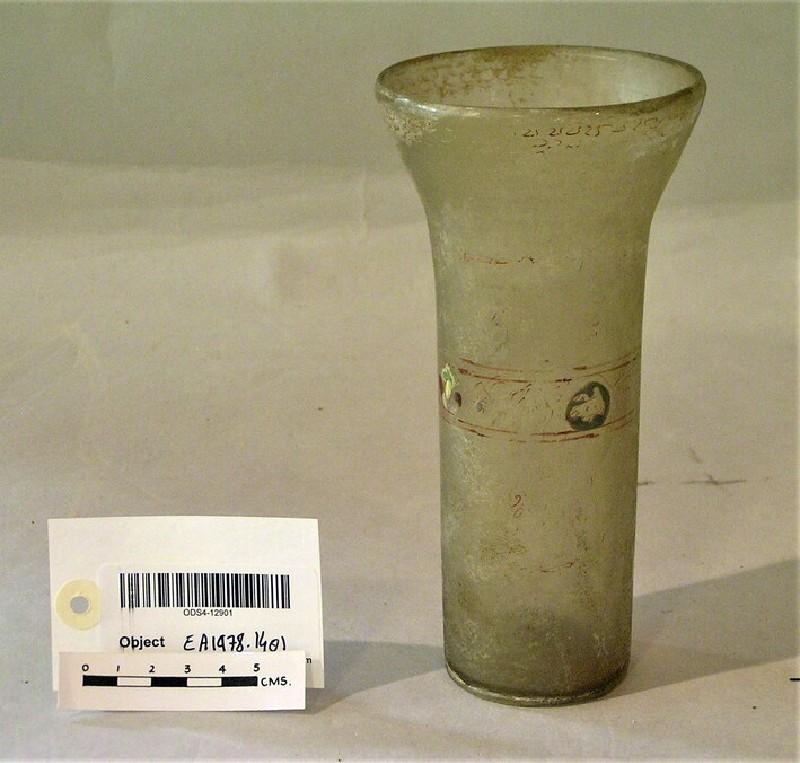 Beaker with vegetal decorative band