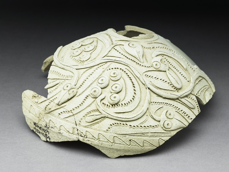 Fragment of a jug with vegetal decoration (EA1932.1084, oblique             )