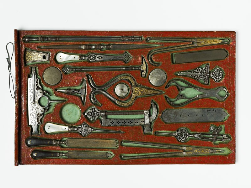Drawer containing contents of a tool kit (EA1955.1.2, top            )