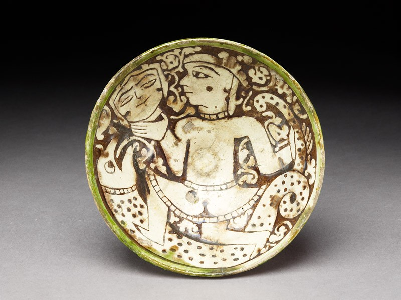 Bowl with female dancer (EA1956.105, top            )