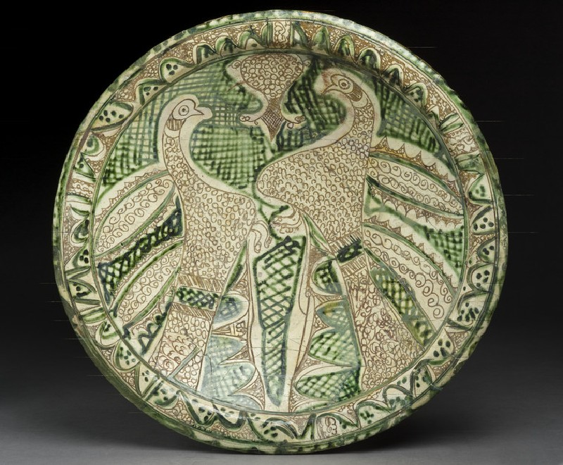 Dish with paired birds (EA1956.120)