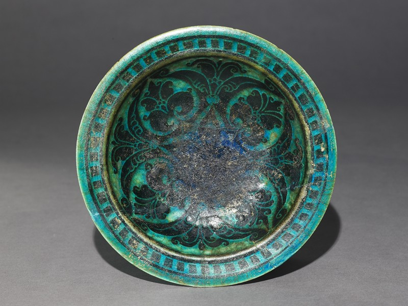 Footed dish with palmettes (EA1956.130, top            )