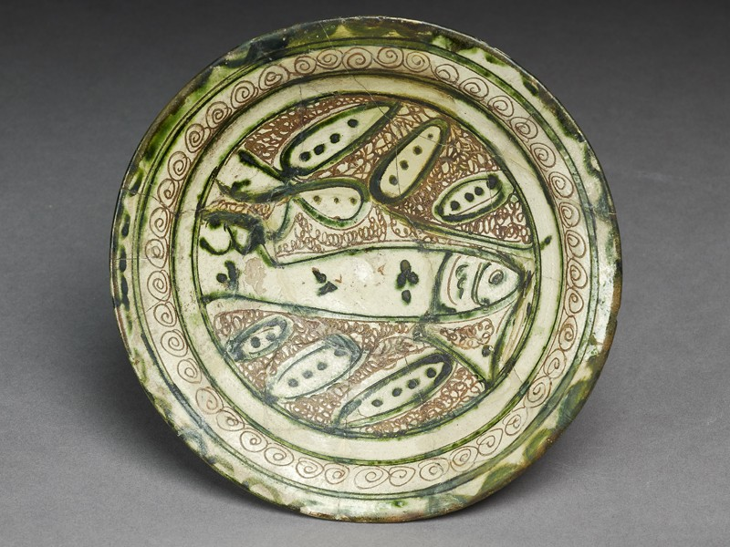 Dish with incised fish (EA1956.141, top            )
