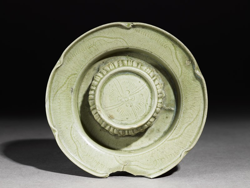 Greenware cup stand with foliated rim (EA1956.225, top            )