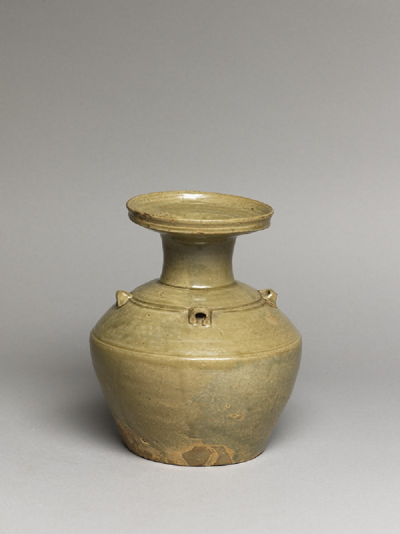 Greenware vase, or hu, with dish-shaped mouth (EA1956.259, oblique            )