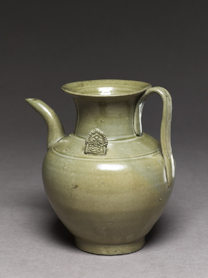Greenware ewer with ornamental flanges (EA1956.260, oblique            )