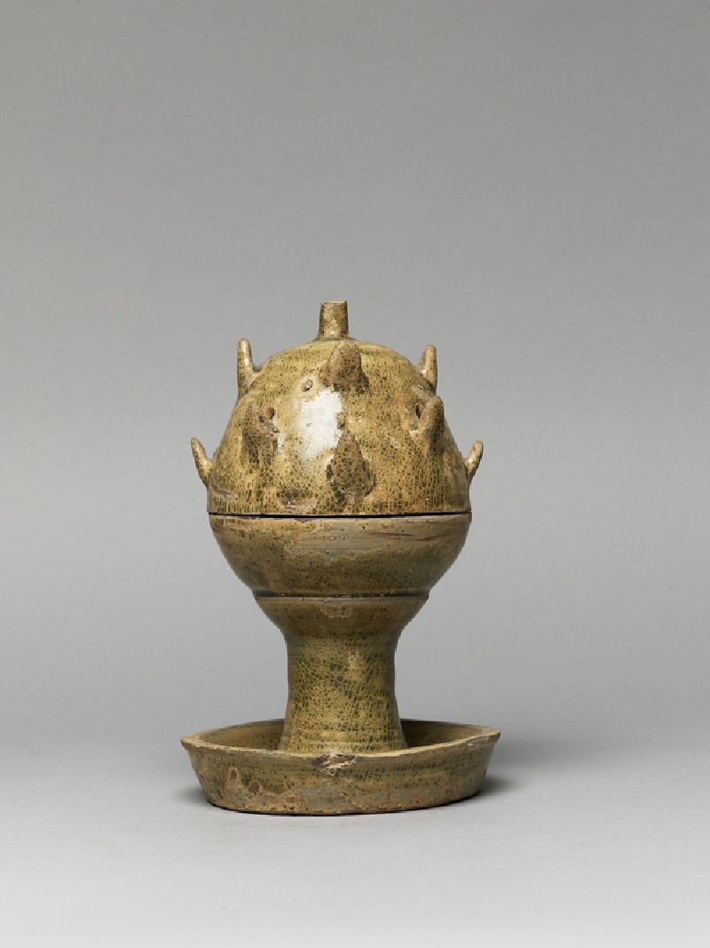 Greenware boshanlu, or hill censer (side            )