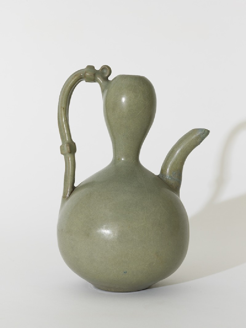 Greenware ewer in double-gourd form (EA1956.391, side            )