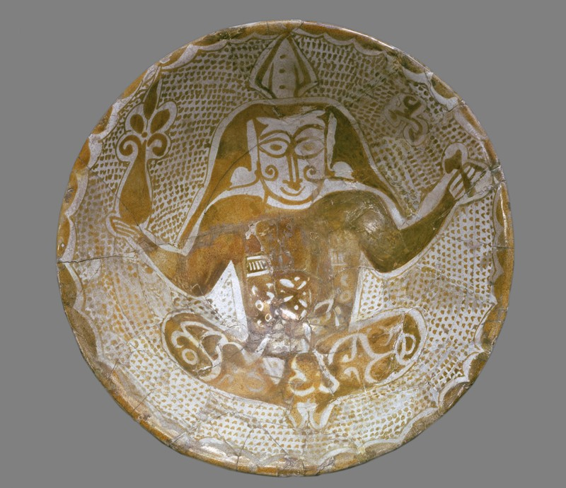 Bowl with seated figure (EA1956.66, top           )