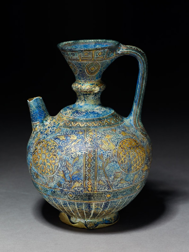 Ewer with rosettes, lozenges, and scrolls