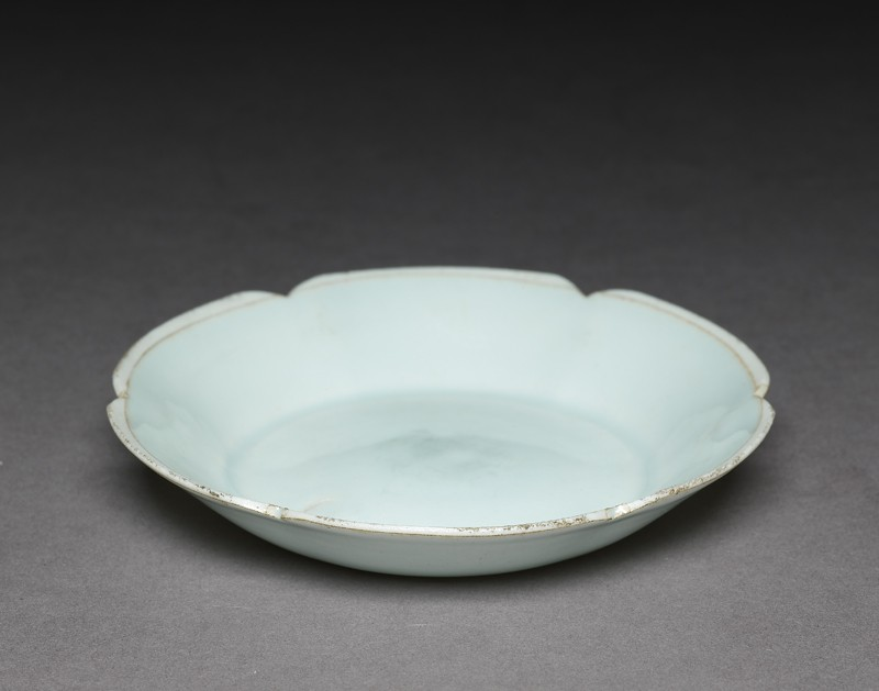 White ware dish with lobed lip