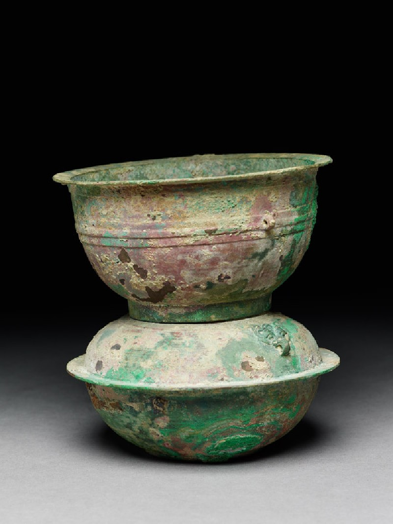 Ritual food vessel, or yan, with animal mask handles (EA1956.876, side            )