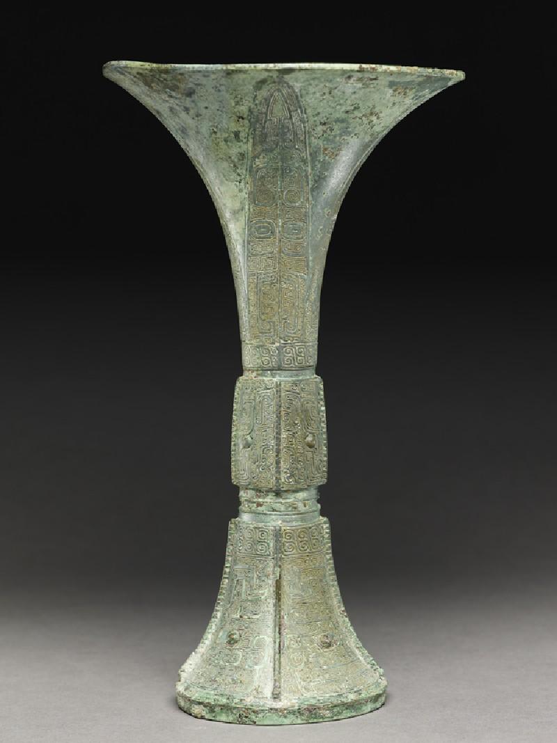 Ritual wine vessel, or gu (EA1956.889, side            )