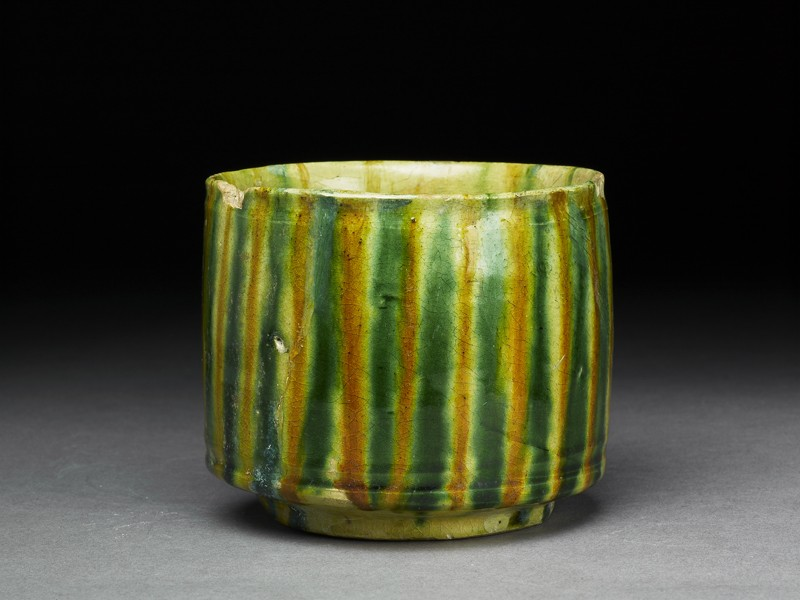 Beaker with striped decoration (EA1956.89, oblique           )