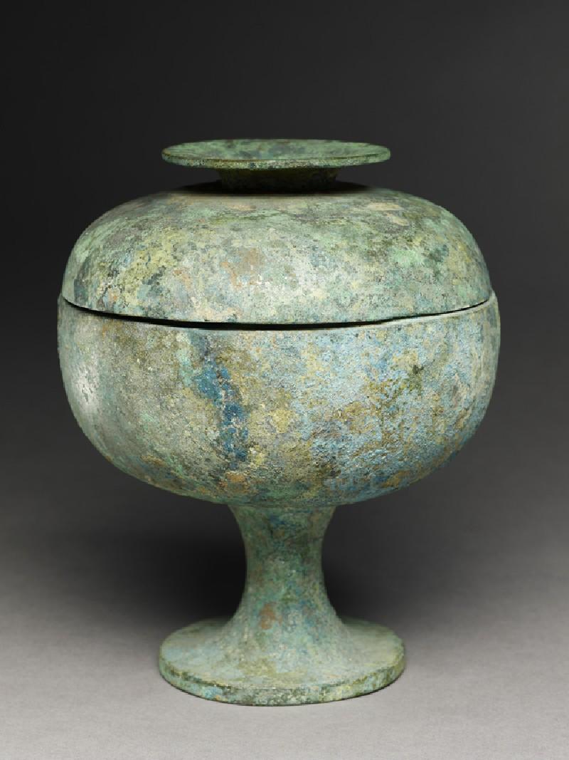 Ritual food vessel, or dou (EA1956.898, oblique            )