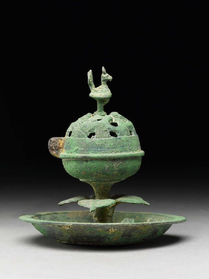 Boshanlu, or hill censer, surmounted by a bird (EA1956.901, side            )