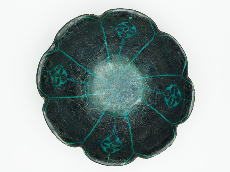 Lobed bowl (top           )