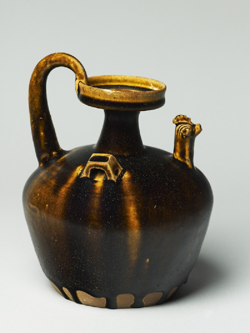 Black ware ewer with chicken head spout (EA1956.944, oblique            )
