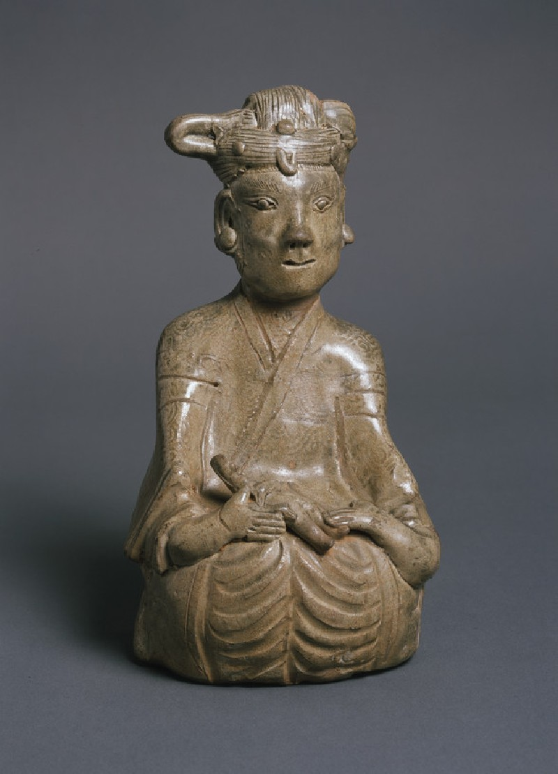 Greenware burial figure of woman and child (EA1956.968)