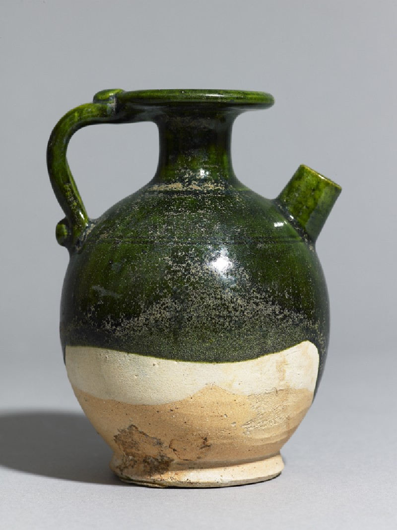 Green-glazed ewer (EA1956.1026, side             )