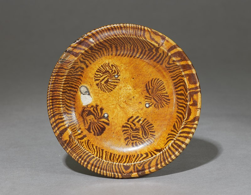 Tripod dish with marbled decoration (EA1956.1054, top             )