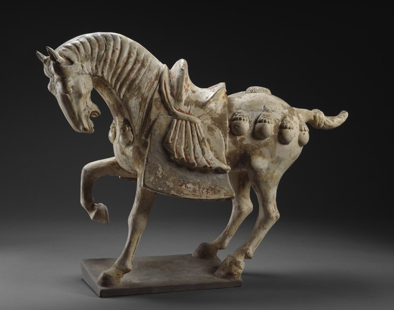 Earthenware figure of a horse