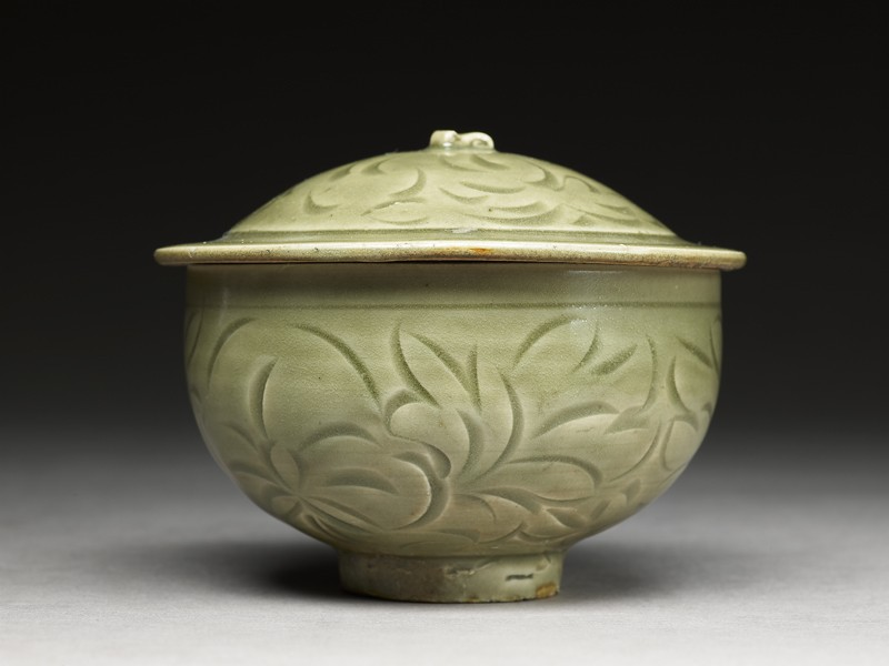 Greenware bowl with floral design (EA1956.1252, side             )