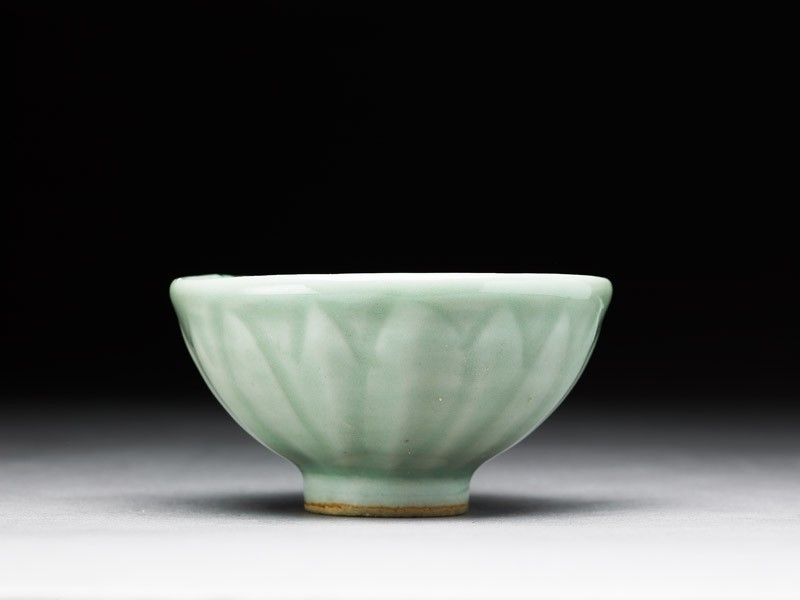 Greenware bowl with lotus petals (EA1956.1267, side             )