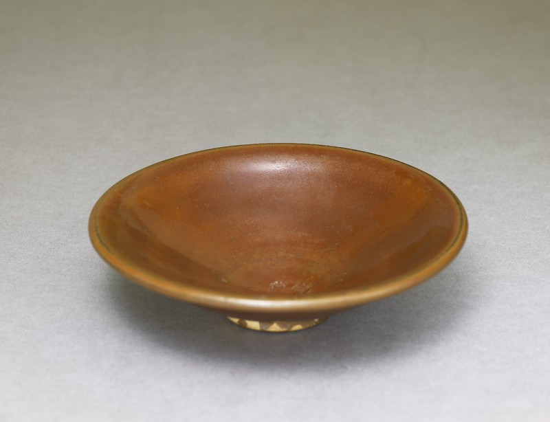 Ding type bowl with russet iron glaze (EA1956.1411, oblique             )