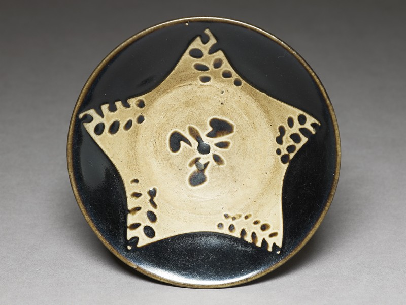 Black ware bowl with star (EA1956.1427, top             )