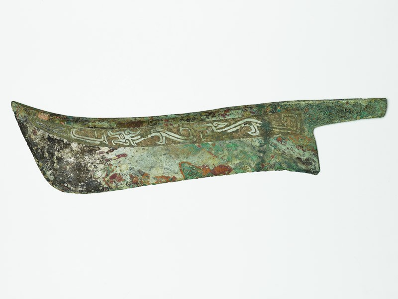 Ceremonial knife with dragon design (EA1956.1500, front             )