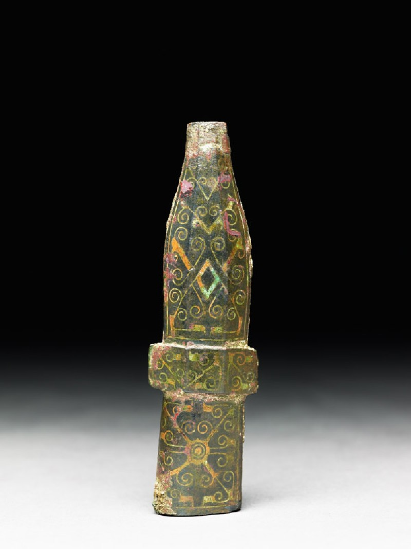 Ferrule with diagonal and scroll decoration (EA1956.1547, front             )