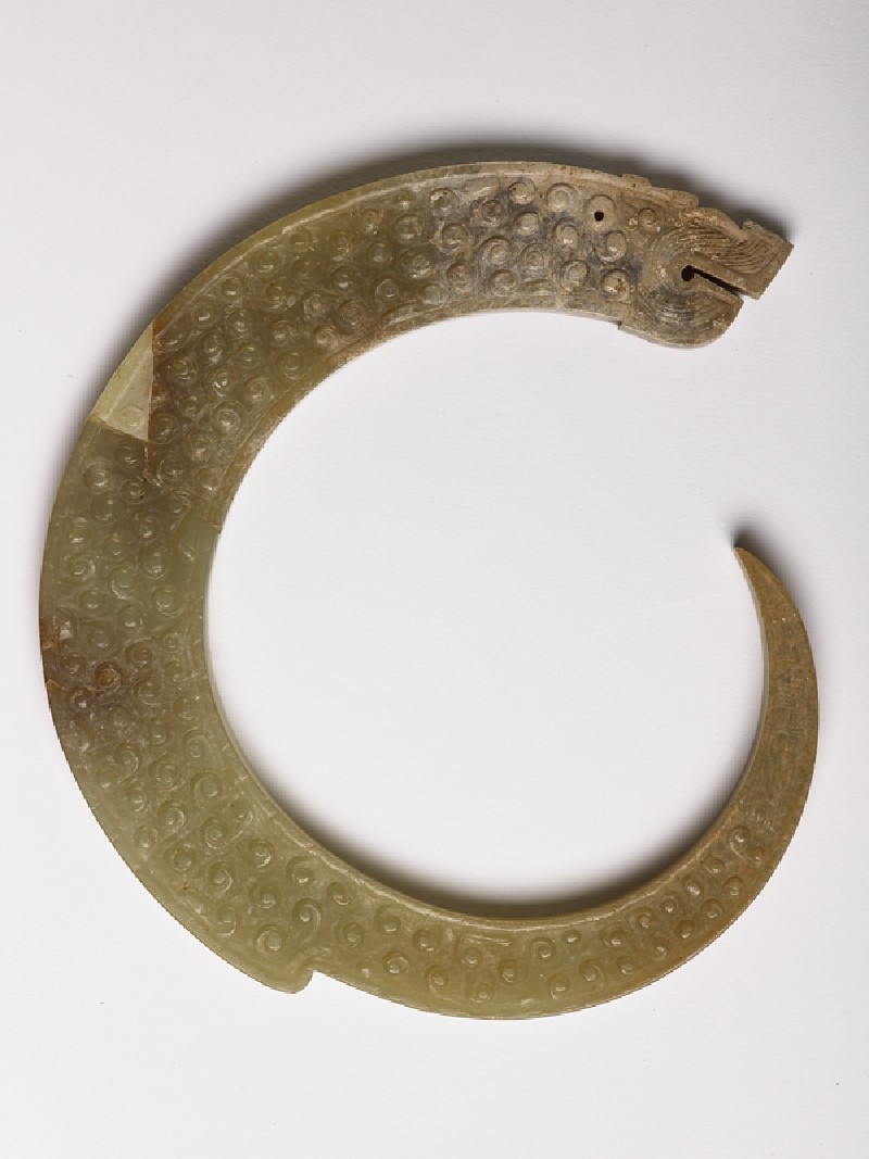 Pendant in the form of a curling dragon (EA1956.1592, side             )