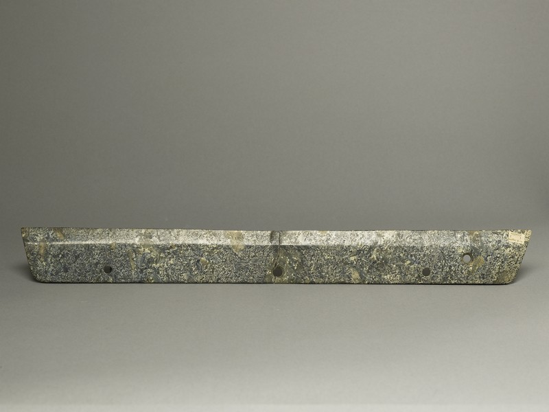 Ceremonial blade in imitation of a reaping knife (front             )
