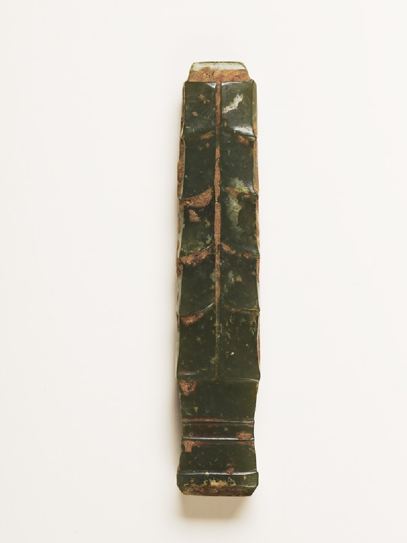 Handle-shaped jade