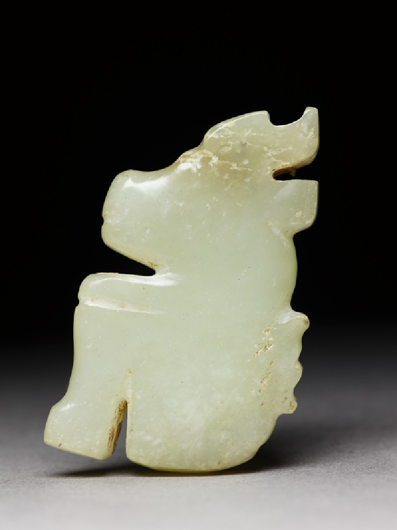 Jade ornament in the form of a horned animal