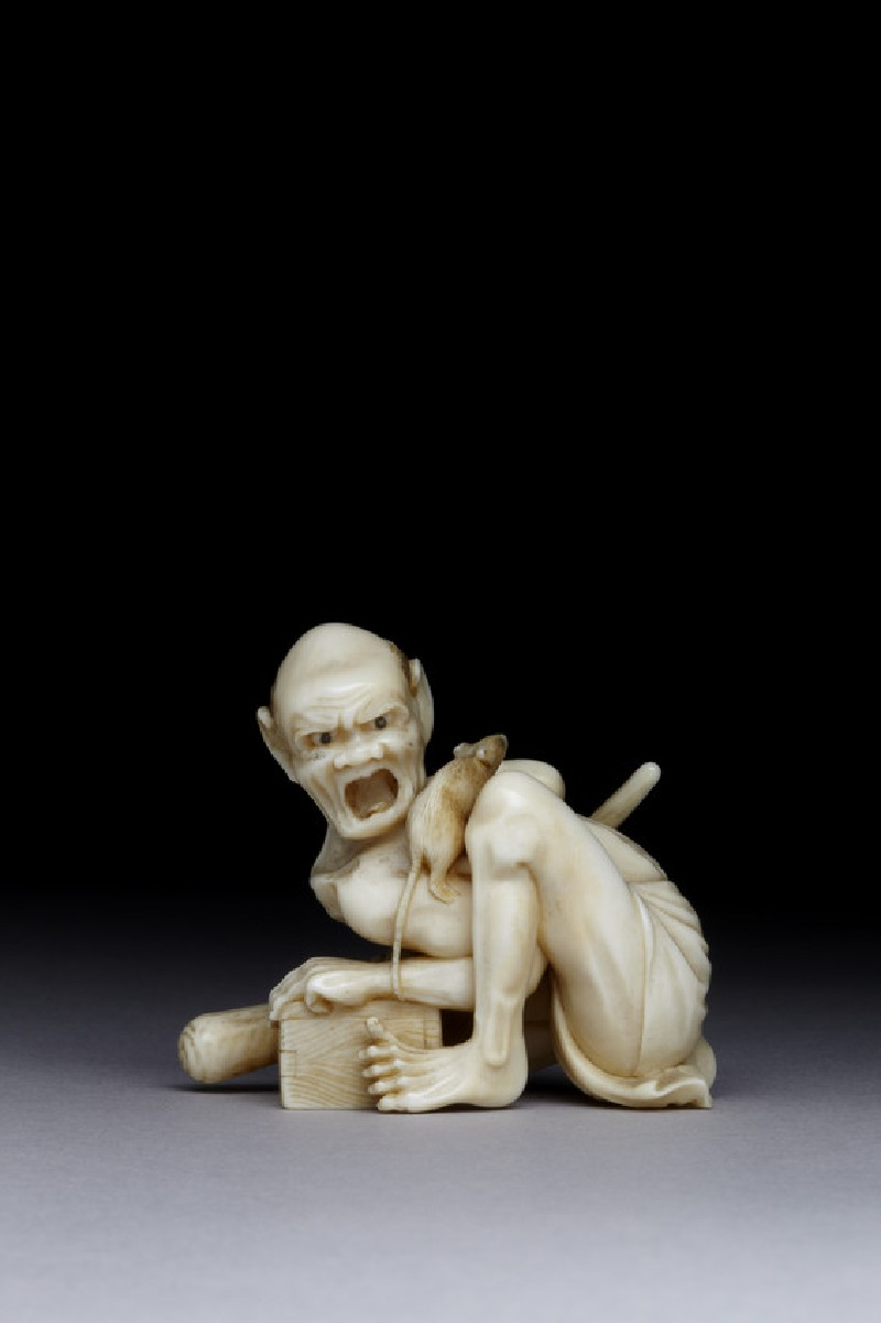 Netsuke in the form of the rat catcher (EA1956.1719, front             )