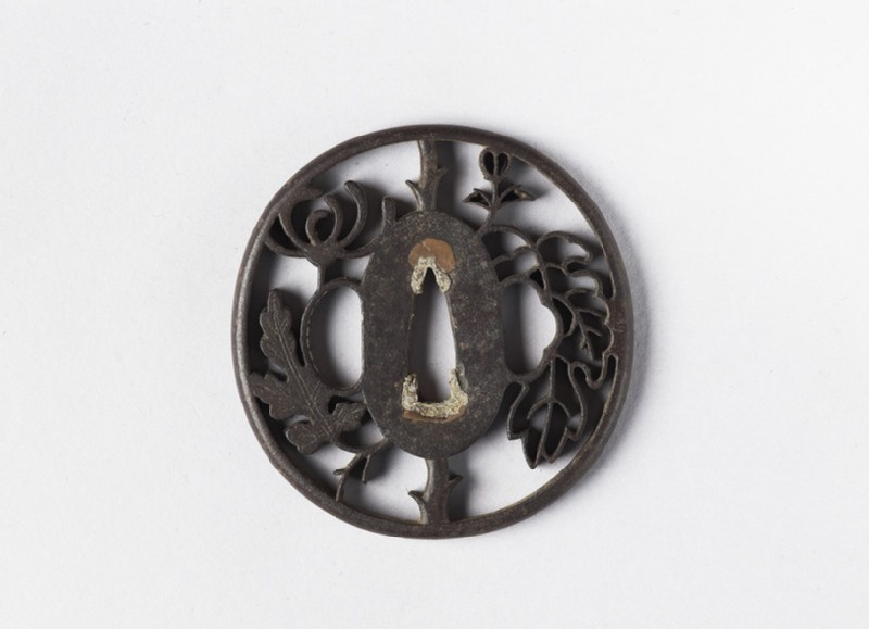 Round tsuba with a chrysanthemum (EA1956.2683, front             )