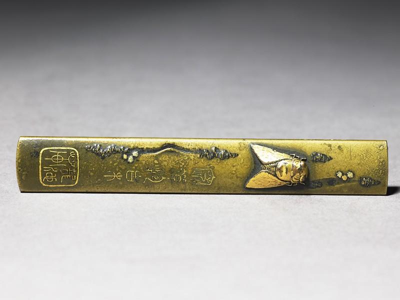 Kozuka, or knife handle, with a cicada