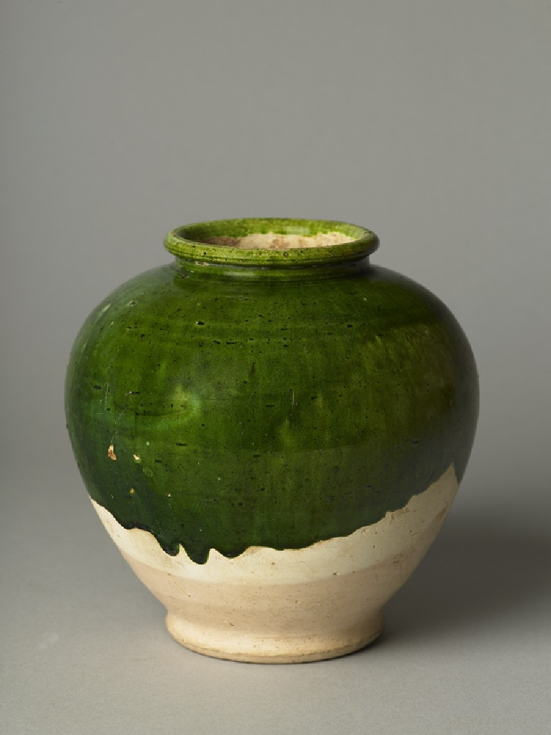 Green-glazed jar (EA1956.3113, oblique             )
