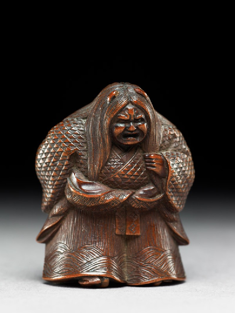 Netsuke in the form of Kiyohime
