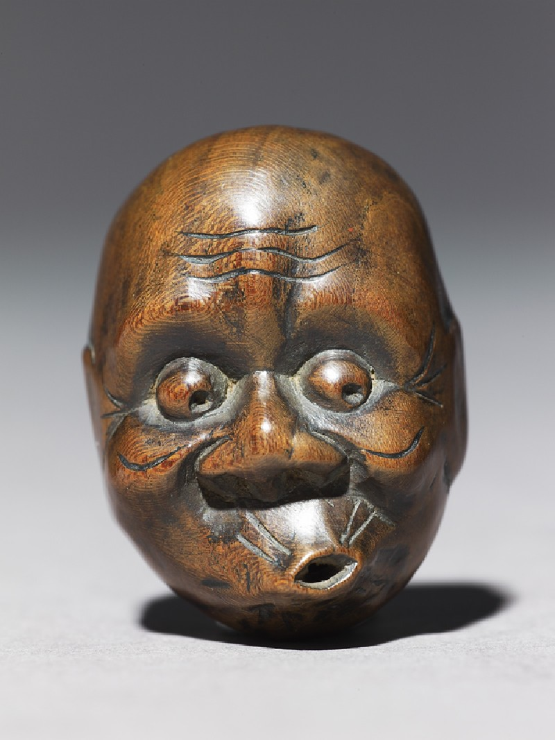 Netsuke in the form of a hyottoko mask (EA1956.3266, front             )
