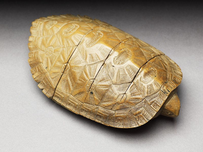 Inrō in the form of a turtle (EA1956.3295, oblique             )